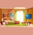 interior of bedroom living room furniture vector image vector image