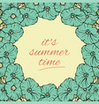 its summer time wallpaper with flowers fun party vector image
