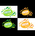 label with text fresh juice vector image vector image