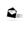 letter black and white vector image vector image