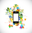 mobile and colorful geometric graphic template vector image