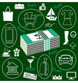Money and Shopping icons vector image vector image