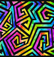 neon geometric seamless pattern vector image vector image
