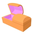 Opened coffin icon cartoon style vector image