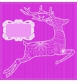 Pink background with deer vector image vector image