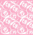 pink heart and round brush background vector image vector image