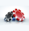 poker chip casino gambling 3d realistic playing vector image vector image