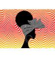 portrait beautiful afro women head wrap ankara vector image vector image