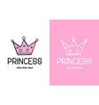 princess and crown inspirational quote - design vector image vector image