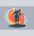 profession firefighter fire brigade employee vector image