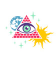 pyramid and eye vector image