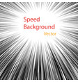 radial lines concept speed movement black vector image vector image