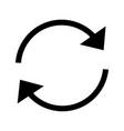 refresh arrows glyph icon vector image