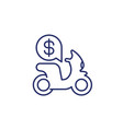 rent scooter line icon on white vector image vector image