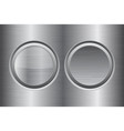 round buttons metal brushed texture vector image vector image
