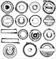 rubber stamps set vector image