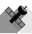satellite sign black icon vector image vector image