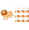 seamless background design with cute lion vector image