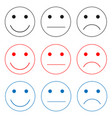 selection of emotions icons vector image
