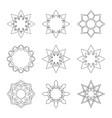 set circular banners vector image vector image