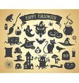 set halloween elements vector image