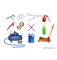 set of auto service and repair tools kits vector image
