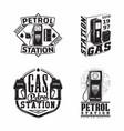 set vintage petrol station emblems design vector image vector image