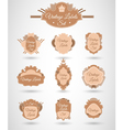 Set with vintage labels vector image vector image