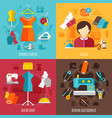 sewing concept icons set vector image vector image
