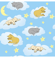 sleepy animals vector image vector image