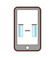 smartphone device comic character vector image