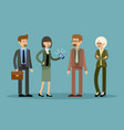 smiling business people office workers vector image vector image