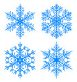 snowflake winter silhouettes on white background vector image