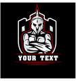 spartan soldier and shield logo designs vector image