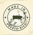 Stamp with map of Puerto Rico vector image