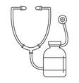 stethoscope medical bottle icon outline style vector image vector image
