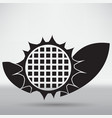 sunflower icon vector image vector image