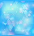 technology of futuristic triangle background with vector image vector image