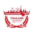 thailand travel destination vector image vector image
