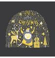 Unique Christmas Design vector image vector image