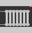 vintage metal heating radiator vector image vector image