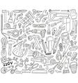 work tools - doodles vector image