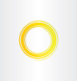 yellow sun swirl logo icon vector image vector image