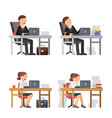 business peoples at work unhappy male and female vector image