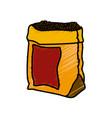 coffee bean bag vector image