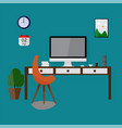 modern design workspace vector image