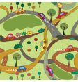 cartoon seamless pattern with cars vector image