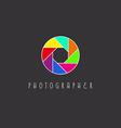 Colored aperture of the camera lens photo studio vector image