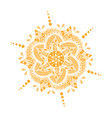 colored hand drawn mandala vector image