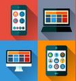 mobile phone flat design vector image